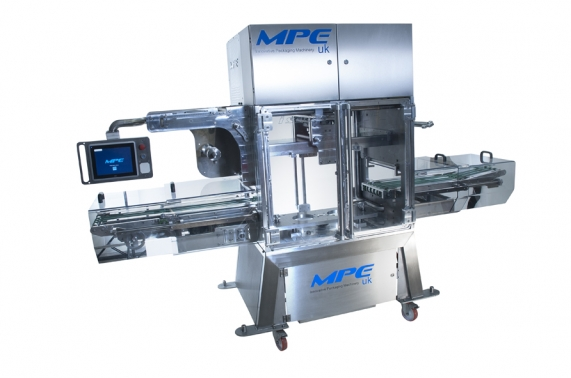 Commercial packshot of large packaging machine on location