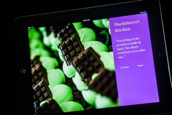 iPad presentation for chocolate manufacturer