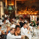 Interiors featuring banquet at Chateau de Canisy St Lo France