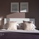 Interiors of exclusive development featuring sunlit bedroom