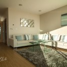 Interiors of exclusive development Bournemouth featuring sunny lounge